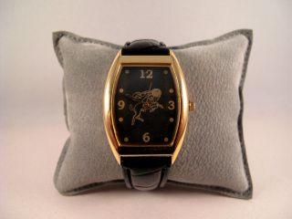 Armbanduhr,  Quartz,  Sternzeichen,  Widder,  Gold U.  Schwarz,  Armband Geprägt, Bild