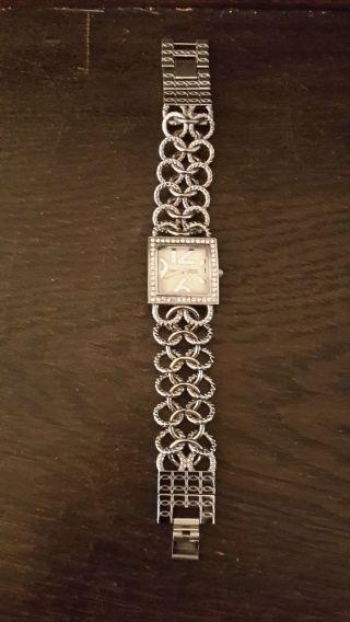 Damen Armbanduhr Mit Strass Kettenband Quarz Bild