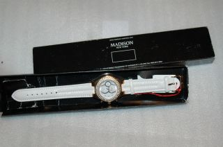 Madison York Damen Armbanduhr Weiß Bild