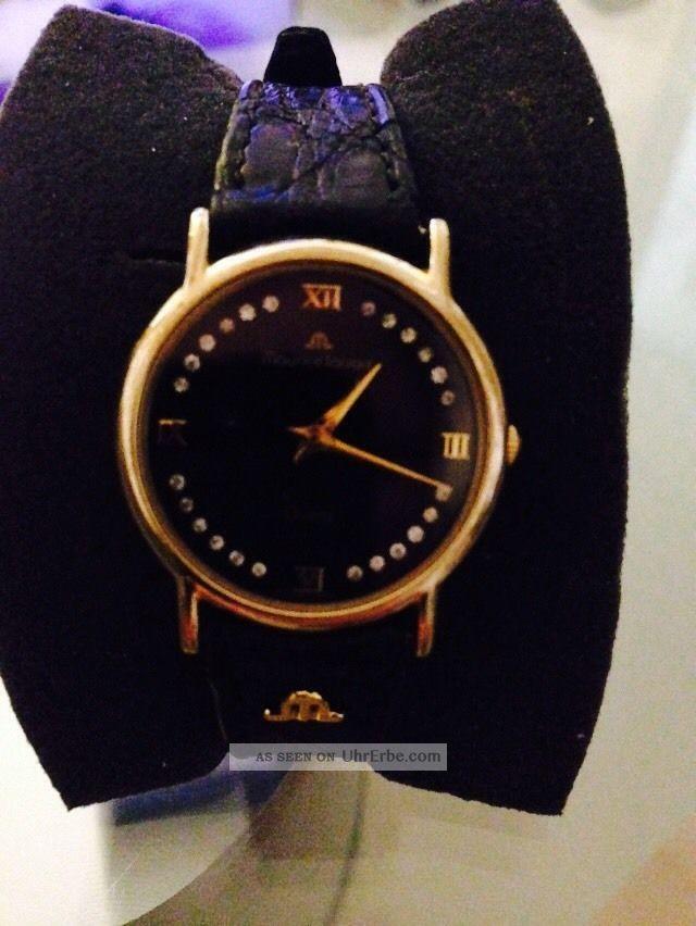 Edle Maurice Lacroix Damen Schwarz Flach Armbanduhren Bild