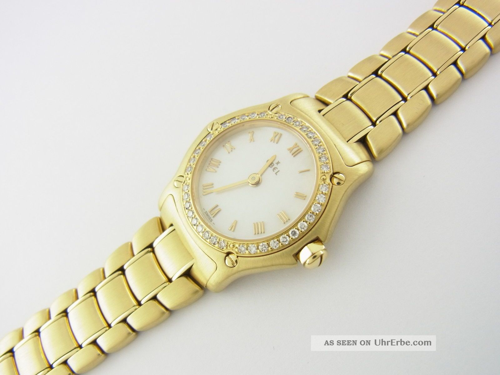 Ebel Sport Classic Damenuhr Aus 750er Gelbgold Mit Diamanten - Lünette Ref.  8057901 Armbanduhren Bild