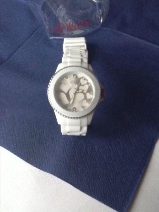S.  Oliver Damen Uhr Damenuhr Uvp 49,  95€ Weiß Silber Herzen Strass So - 2419 - Pq Bild