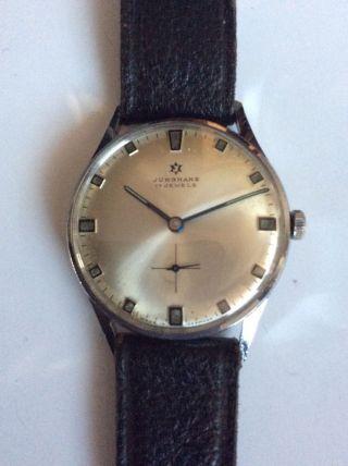 Junghans 17 Jewels Armbanduhr - Frisch Revidiert Bild