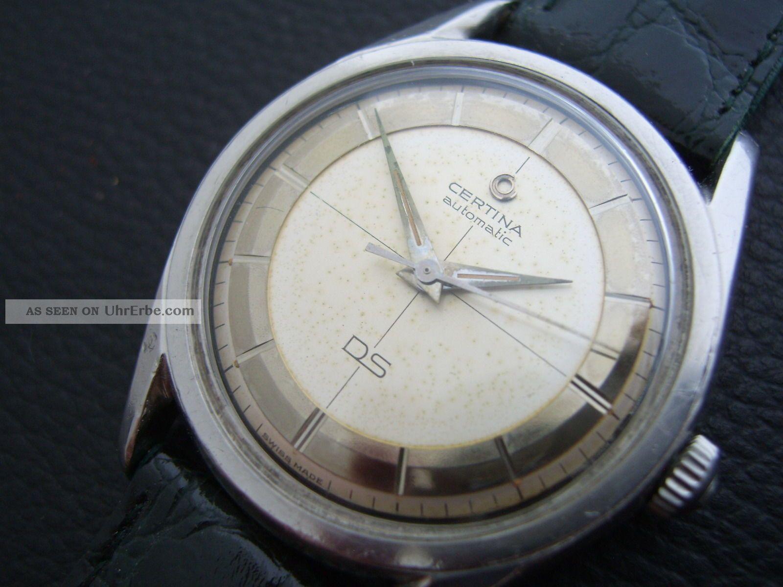 FrÜhe Certina Ds Automatc Aus 1959/60 - Kal.  : 25 - 45 - Rare Mirror Dial - 36mm Armbanduhren Bild