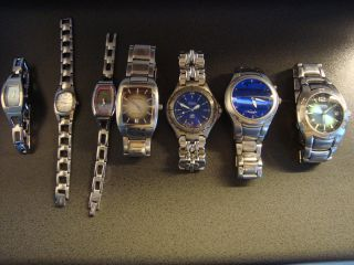 Fossil Konolut Armbanduhren 7 Stck.  Edelstahl,  Bic Tic,  Blue,  Arkitek.  T Bild
