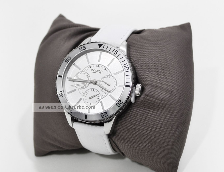 Esprit Es105082002 Marin Speed White Chronograph Damen Armbanduhr Damenuhr Weiß Armbanduhren Bild