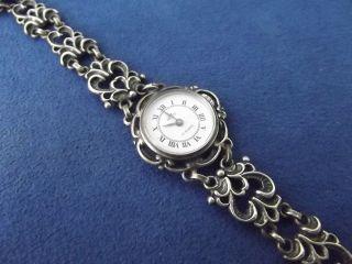 Edele Majestic Damen Armbanduhr Damenuhr Trachtenuhr Handaufzug 835 Silber 1038 Bild