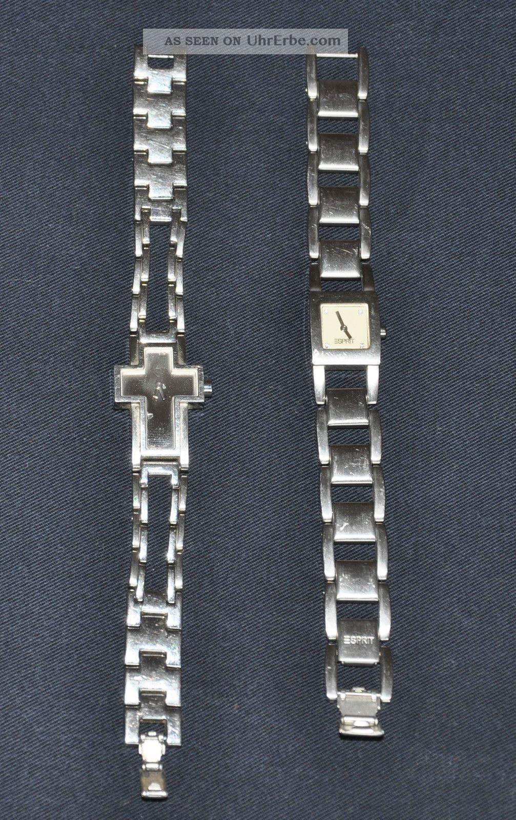2 X Esprit Uhr Damen Uhren Edelstahl Armbanduhren Bild