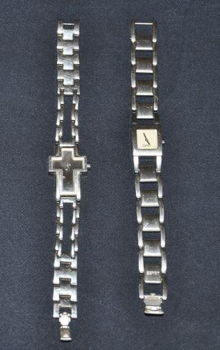 2 X Esprit Uhr Damen Uhren Edelstahl Bild