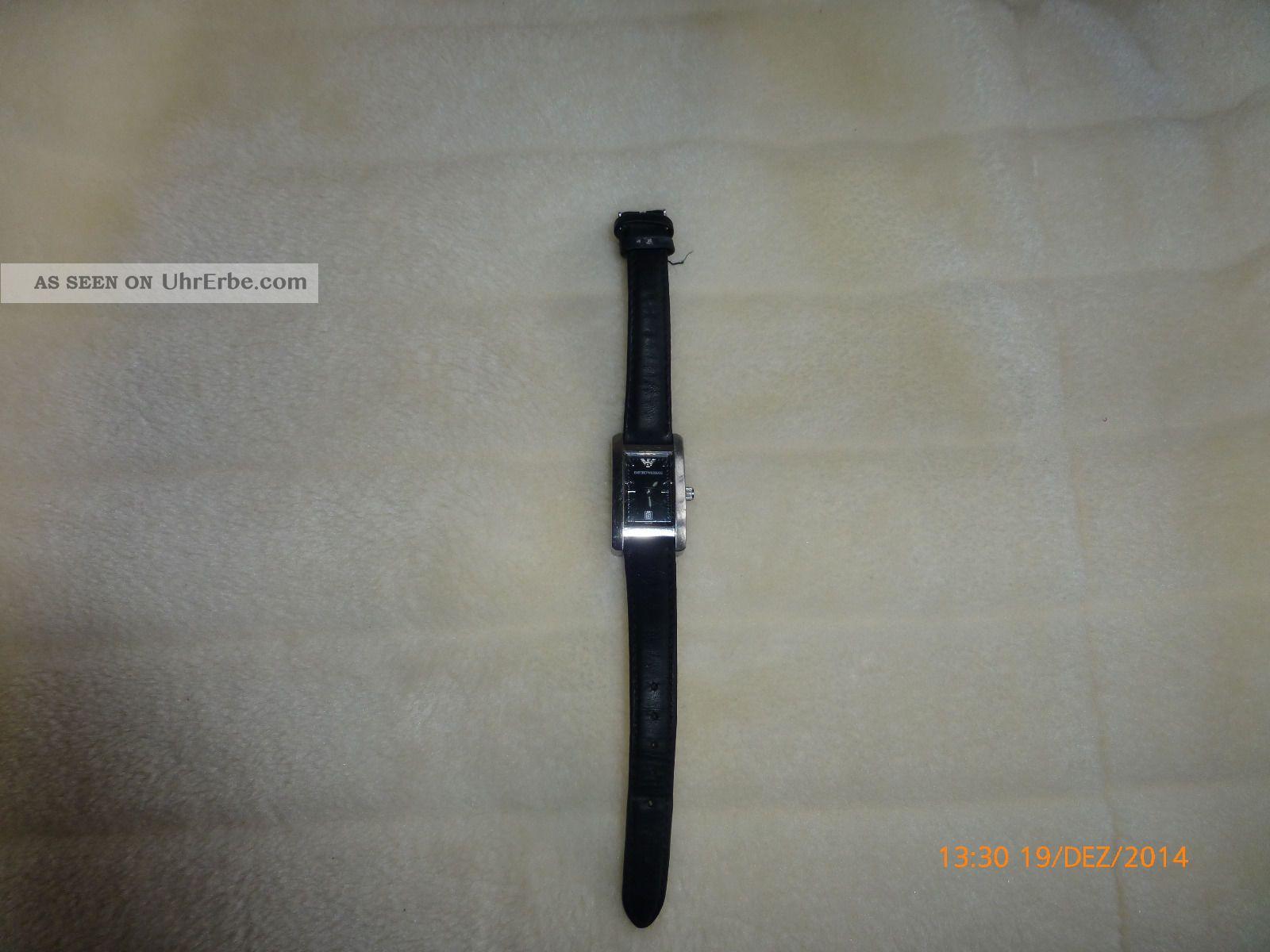 Empori Armani Uhr Mit Datumanzeige Mit Leichten Gebrauchsspuren Armbanduhren Bild