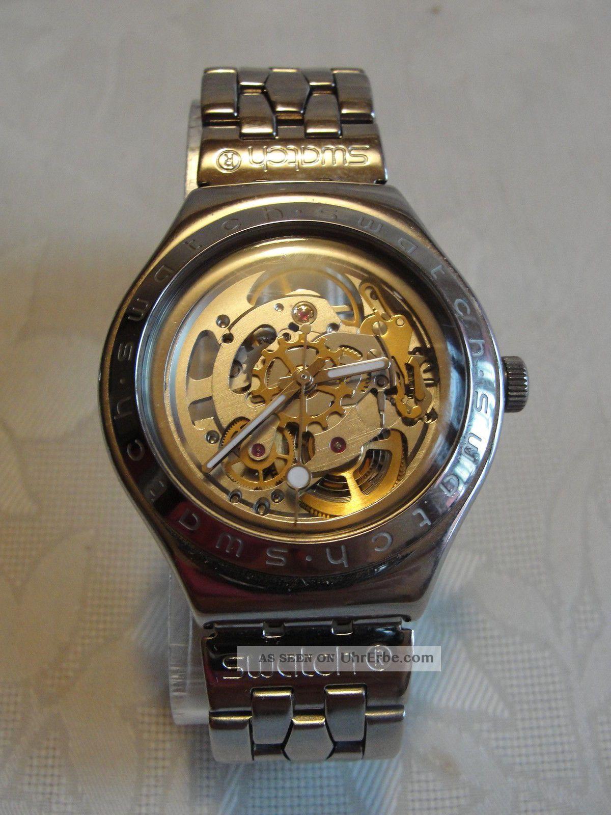 Swatch Irony Automatic Mit Eta 2841 - 1 Edelstahl Armbanduhren Bild