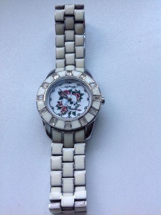 Ed Hardy Uhr Damen Weiß Bild
