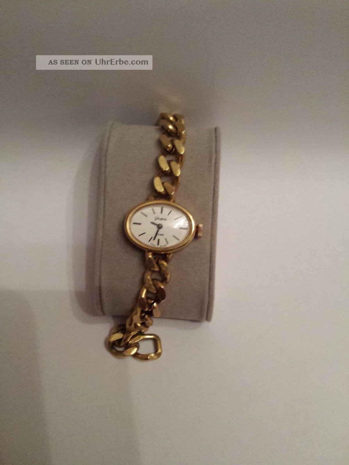 GlashÜtte Damenuhr,  Mechanich Handaufzug,  Läuft Sehr Gut Armbanduhren Bild