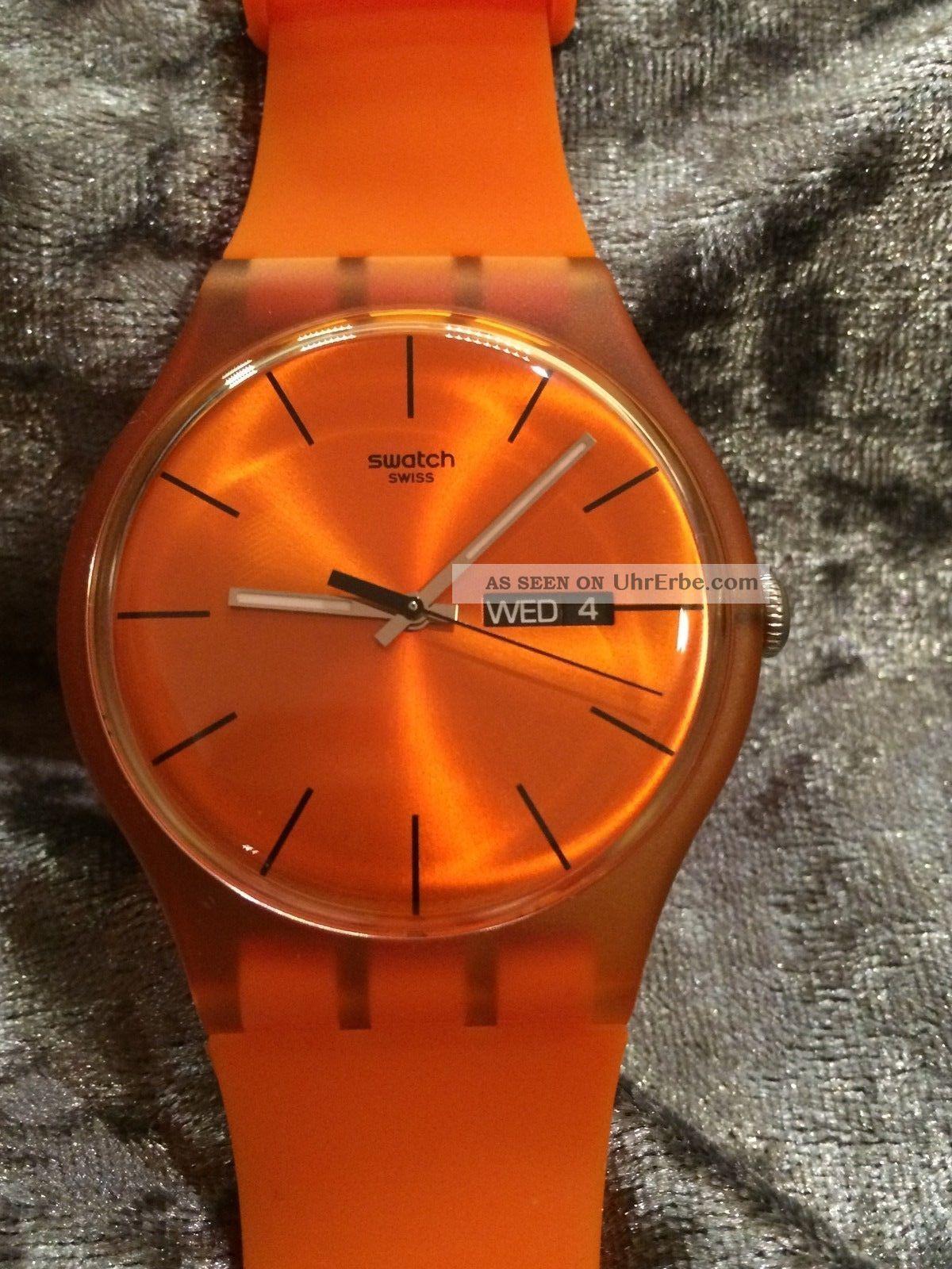 Swatch Gent Pumpkin Rebel Suoo700 Ovp Nib Groote Oranje,  Orange Und Heiß Armbanduhren Bild