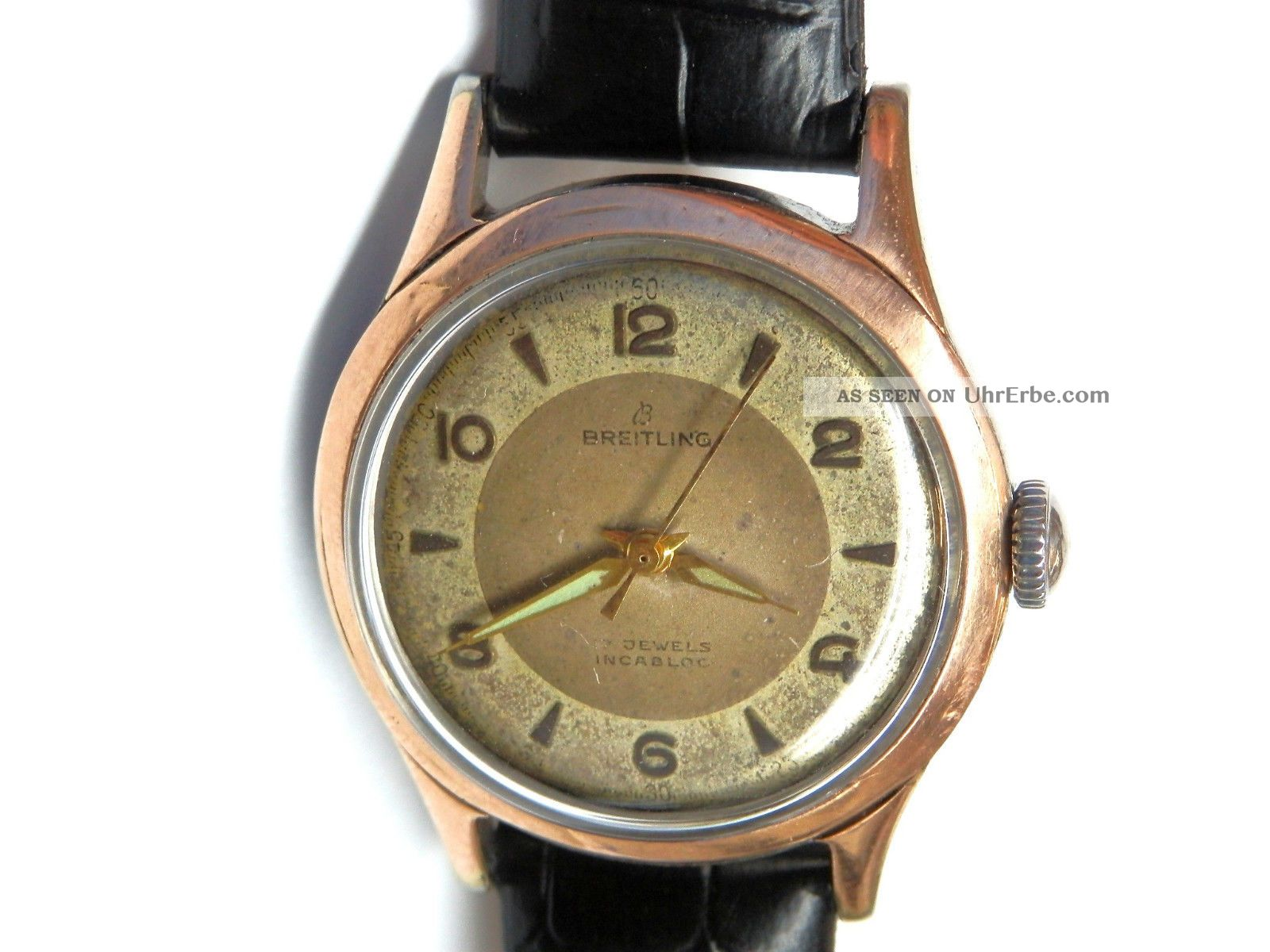 Vintage Breitling Genève Chronometr Zwei Töne.  Armbanduhr.  As 1187 Armbanduhren Bild