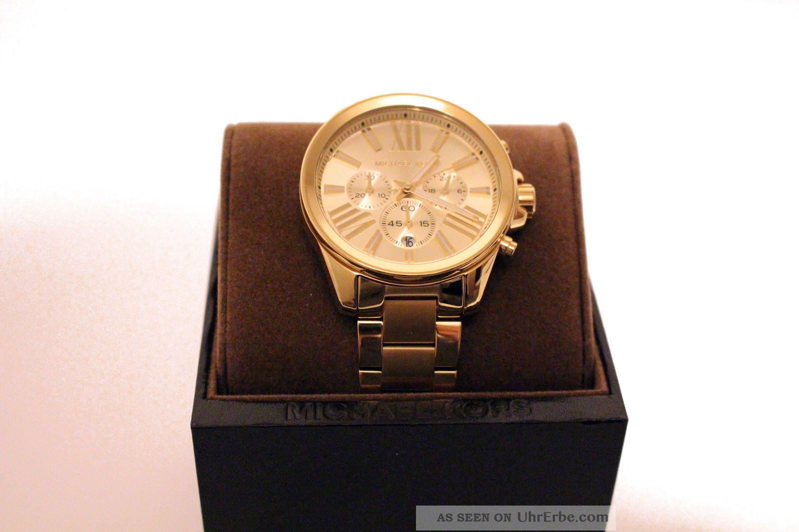 Michael Kors Uhr Mk5711 Neu&ovp Xxl Gold Chronograph Uvp 249,  95 Armbanduhren Bild