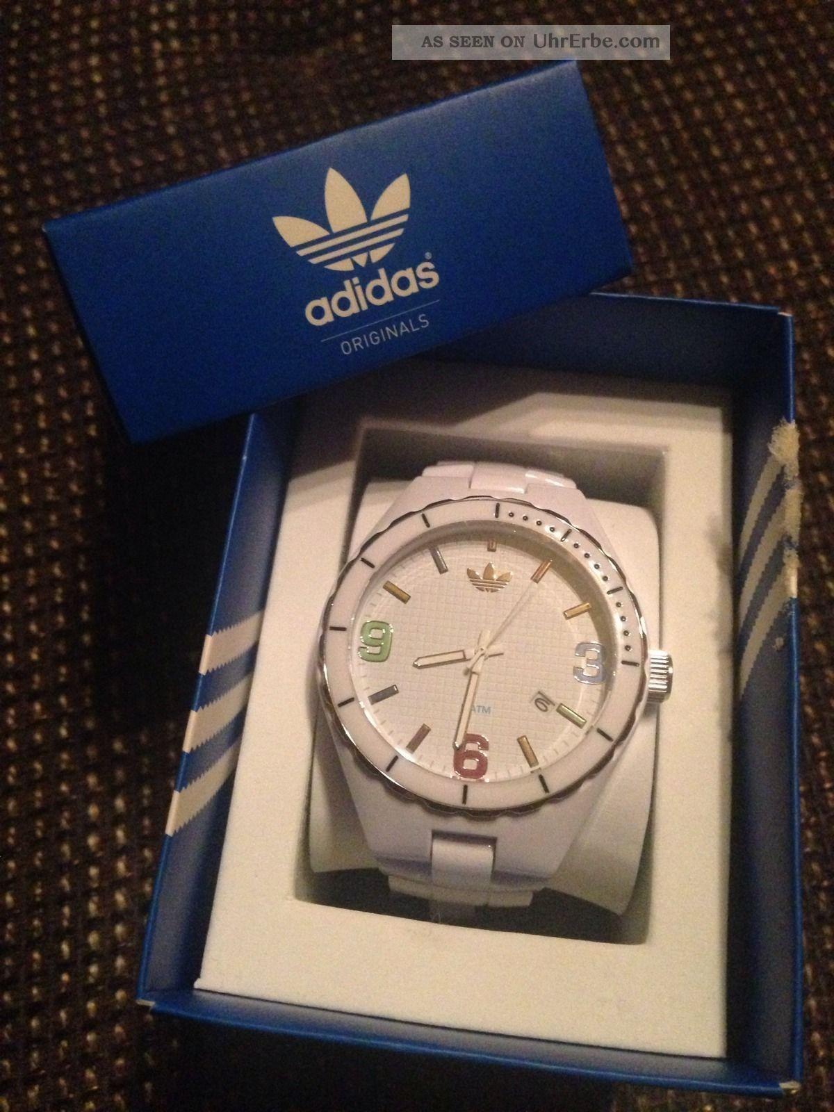 Adidas Damen Uhr Weiss Bunt, Armbanduhren Bild