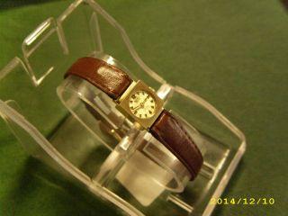 Roxy Gold Uhr.  585 Gold 14 K.  Damen Luxus Armbanduhr.  Swiss Made Bild