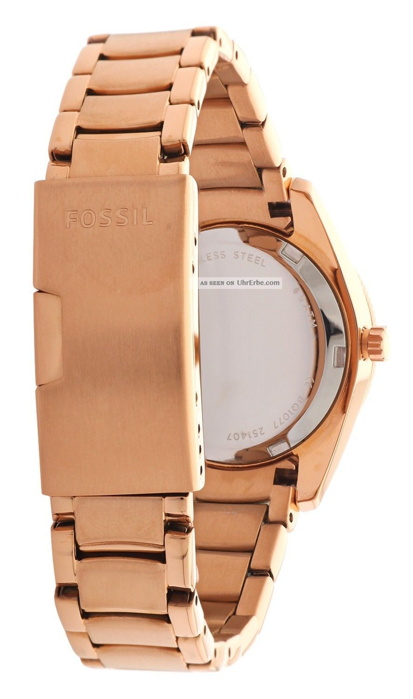 Fossil damen armbanduhr jeanne rosegold bq1077