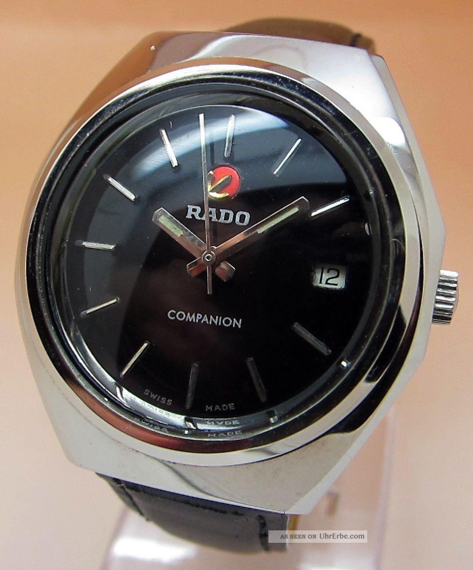 Rado Companion Glasboden Mechanische Uhr 25 Jewels Datumanzeige Lumi Zeiger Armbanduhren Bild