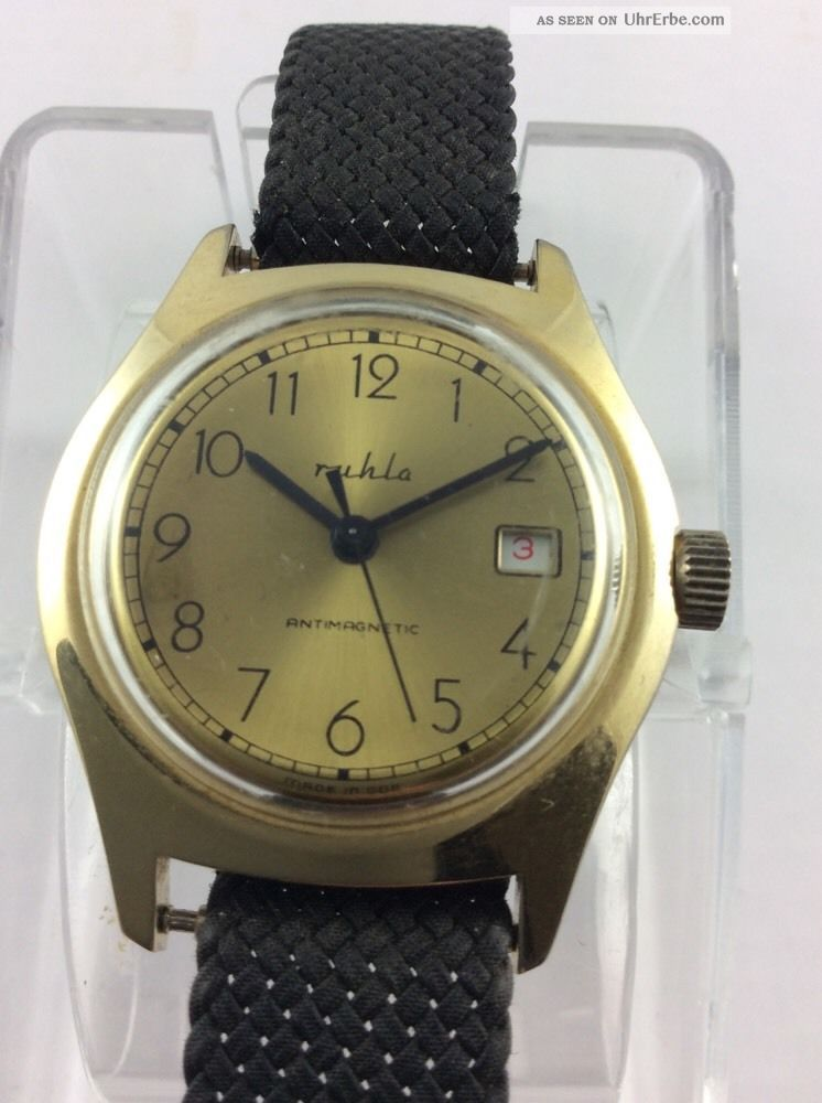Ruhla Handaufzug Im Sehr Guten Armbanduhren Bild