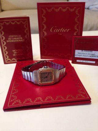 Cartier Armbanduhr,  Luxusuhr,  Santos,  Damenuhr Bild