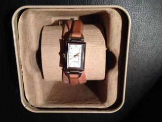 Fossil Damenuhr Armbanduhr Lederband Restgarantie Edelstahl Bild