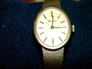 Bulova Swiss Damenuhr 70iger Jahre,  Band Und Uhr Silber 925 Bild