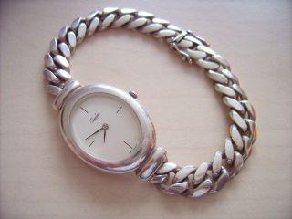 Schwere Quinn 925 Silber Uhr Mit Massiven Silberarmband Bild