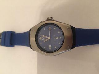 Seiko Kinetic 3m22 - Od49 Blau Uhr Armbanduhr Mit Verpackung,  Bedienungsanleitung Bild