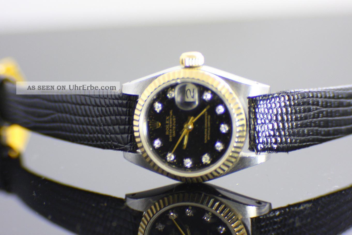 Rolex Oyster Perpetual Datejust Chronometer Ca.  1970 10 Diamanten Armbanduhren Bild