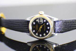 Rolex Oyster Perpetual Datejust Chronometer Ca.  1970 10 Diamanten Bild