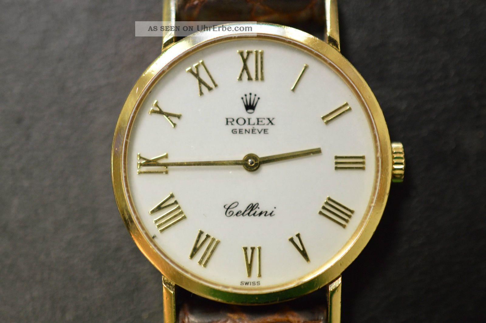 Rolex Cellini Ref.  4109 Handaufzug 750er Gelbgold 18k Vintage Armbanduhren Bild