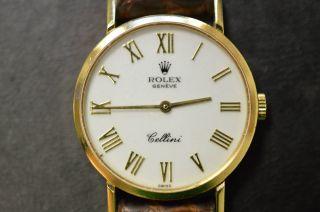 Rolex Cellini Ref.  4109 Handaufzug 750er Gelbgold 18k Vintage Bild