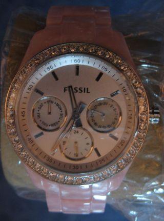 Fossil Es2791 Armbanduhr Für Damen Rosa Bild