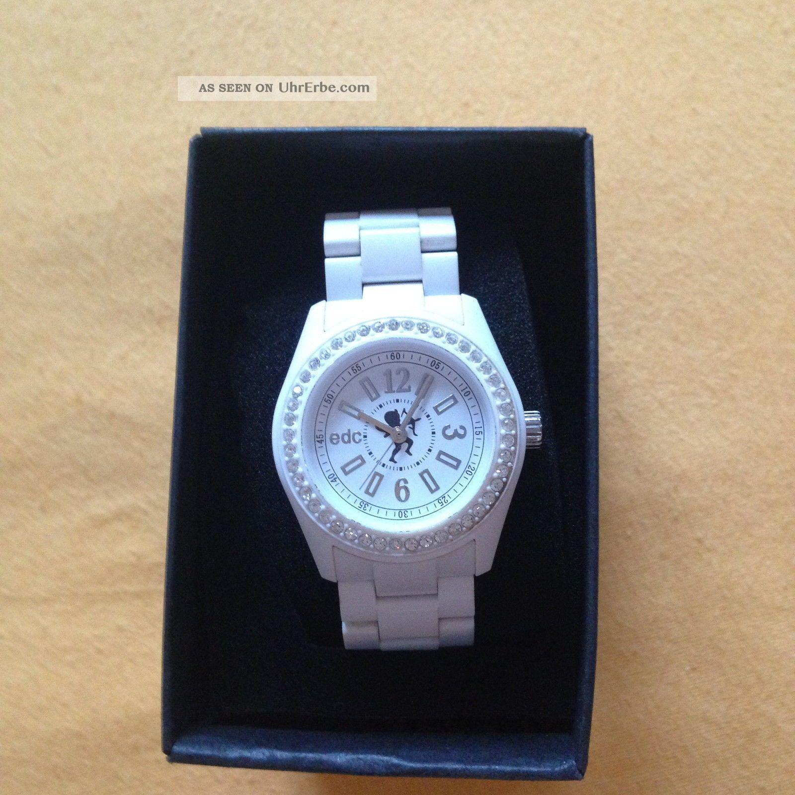 Esprit Uhr,  Edc,  Weiß,  Ungetragen,  Mit Etikett,  Originalverpackung,  Amor Armbanduhren Bild