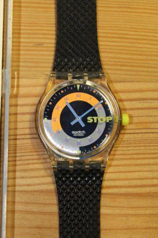 Swatch Stopuhr Coffebreak Ssk100 Ovp Bild