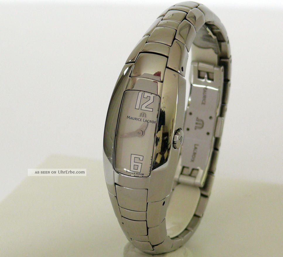 Maurice Lacroix In3012 Vergoldet Quartz Selten Armbanduhren Bild