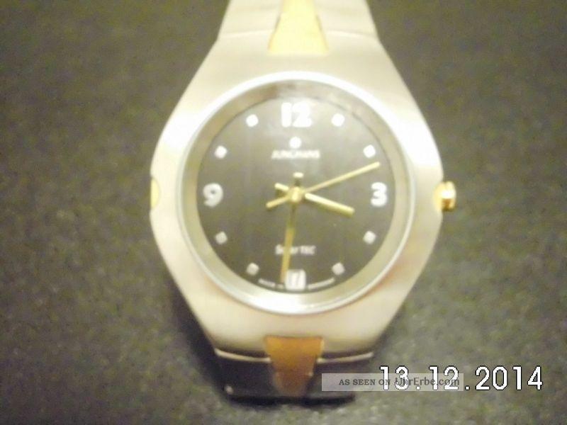 Sehr Schöne Junghans Solar Tec Bicolor Damenuhr Armbanduhren Bild