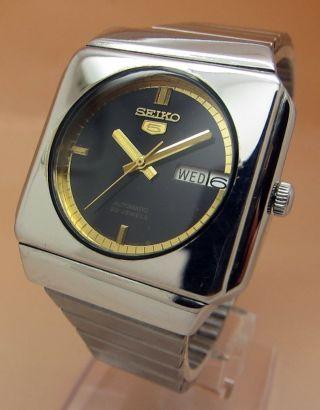 Seiko 5 Square Tv 6309 - 5230 Mechanische Automatik Uhr Datum & Taganzeige Bild