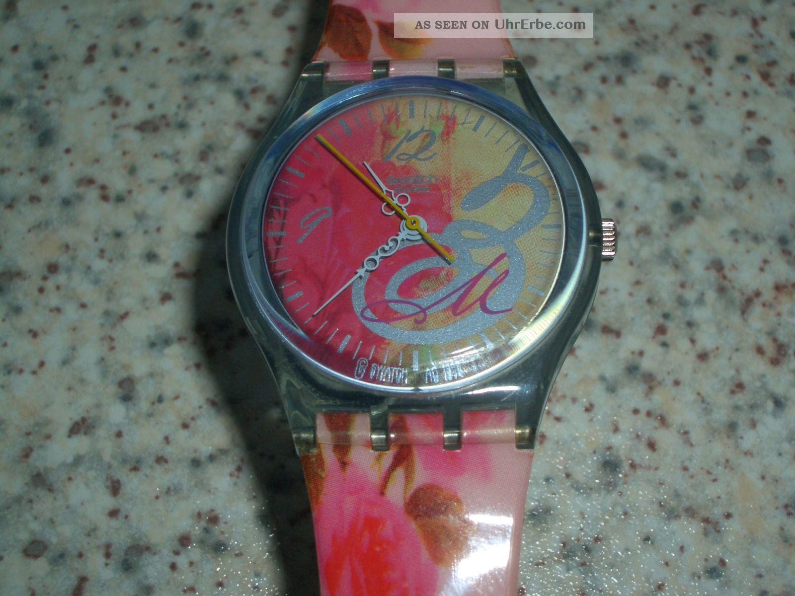 Damenuhr Swatch Gent Rose Top,  Wie,  Voll Funktionstüchtig,  Neue Batterie Armbanduhren Bild