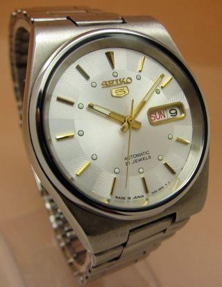 Seiko 5 Glasboden Automatik Uhr 7s26 - 0530 21 Jewels Datum & Tag Bild