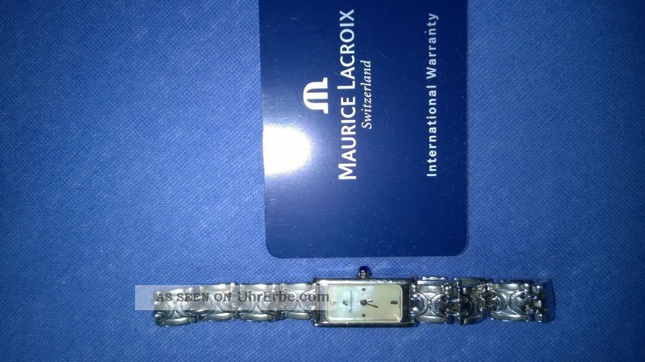 Luxusuhr; Damen,  Silber,  Maurice Lacroix,  Eckig Armbanduhren Bild