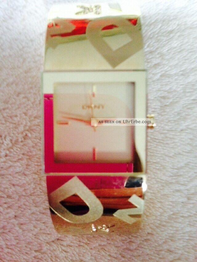 Dkny Ny4802 Damenuhr Vergoldet 30m Analog Neupreis: Ca.  100€ Armbanduhren Bild