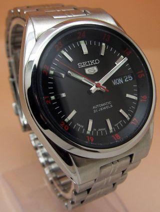 Seiko 5 Durchsichtig Automatik Uhr 7s26 - 02c0 21 Jewels Datum & Tag Bild