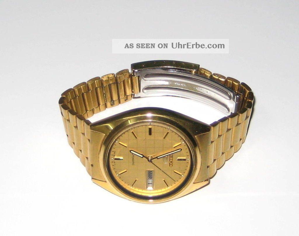 Seiko 5 Automatik Uhr - Armbanduhr Armbanduhren Bild