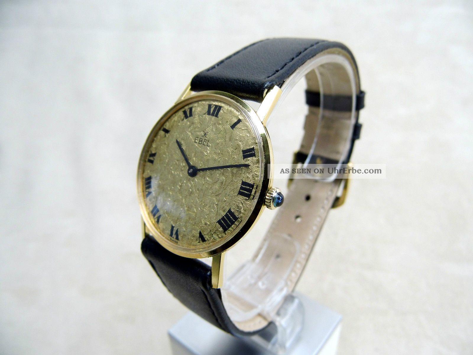 Antike Ebel Armbanduhr Handaufzug,  Gold Doublee 50er Jahre Armbanduhren Bild