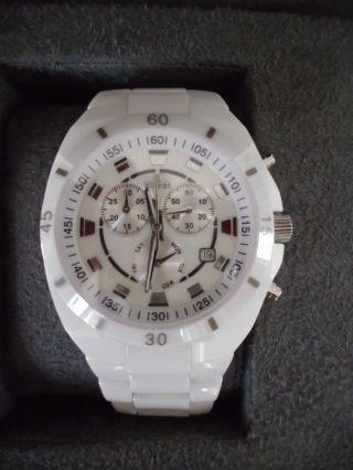 Hirsch Keramik Armbanduhr Chronograph Quarz Ovp Mit Box Bild