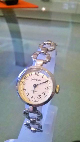 Wunderschöne Silberne Glashütte Damen Armbanduhr Bild