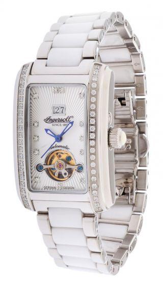 Ingersoll Damen Automatik Uhr Young Silber In5012whmb Bild